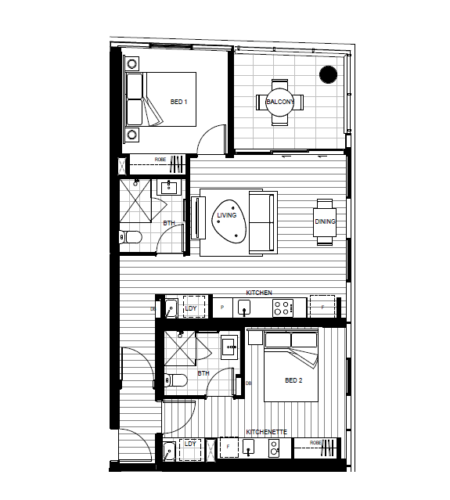 floor Plan for dual key